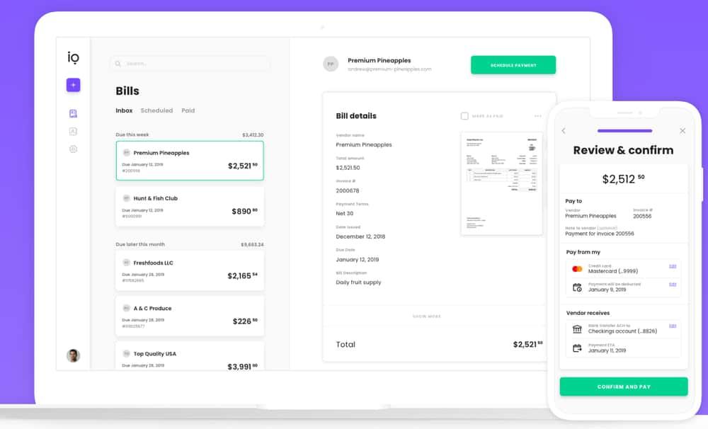 Melio Invoice Automation Software