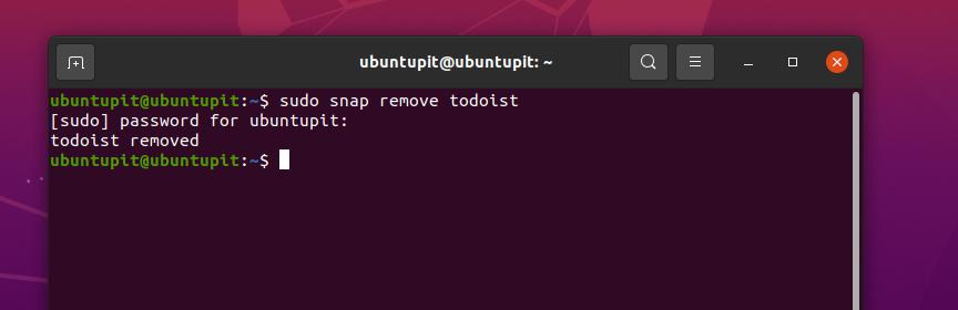 remove todoist from Linux via snap