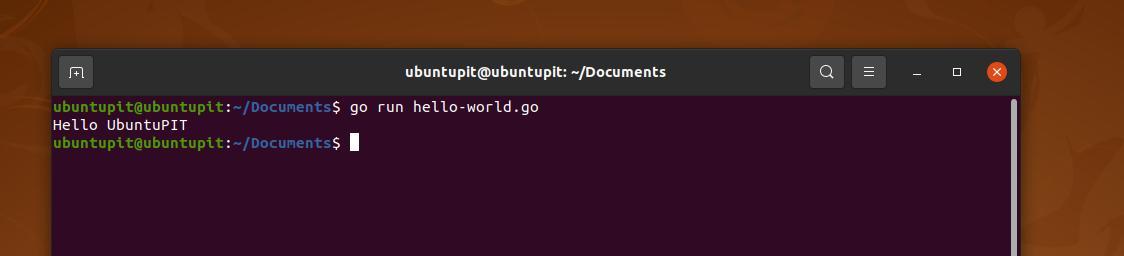 run go on ubuntu