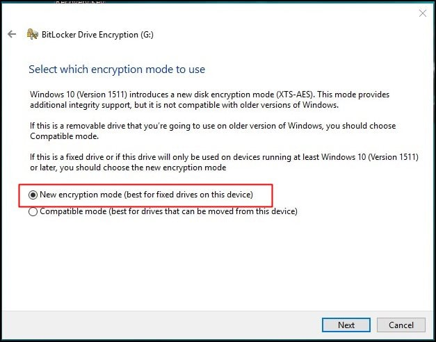 How to enable Disk Encryption in Windows 10