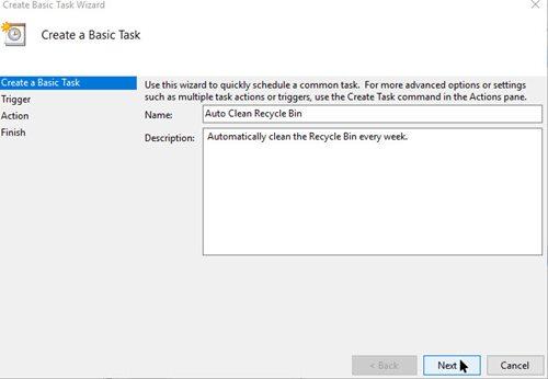 Step 3 Create a Task Name