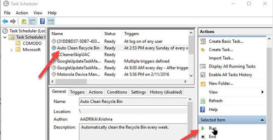 How to schedule Windows 10 to Empty Recycle Bin Automatically