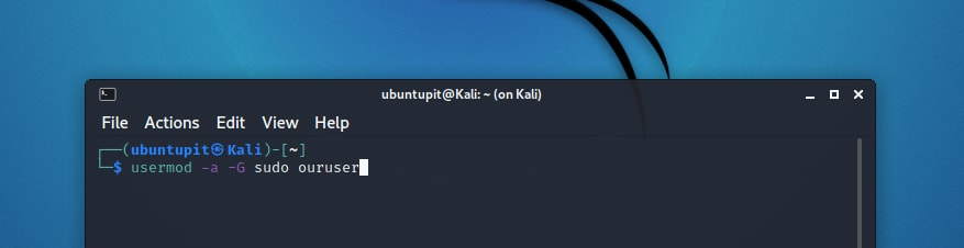 adding new user to sudoers gorup in Kali Linux