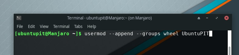 adding new user to wheel group in manjaro-how to add or create sudo user in linux