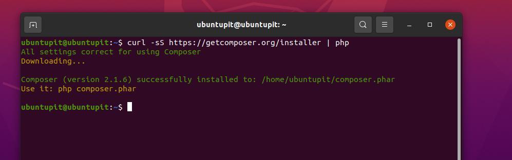 get composer tool on Ubuntu