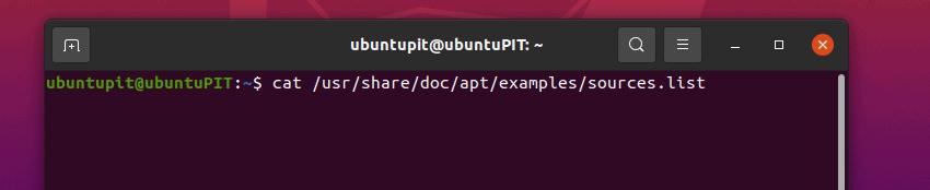 input: cat /usr/share/doc/apt/examples/sources.list