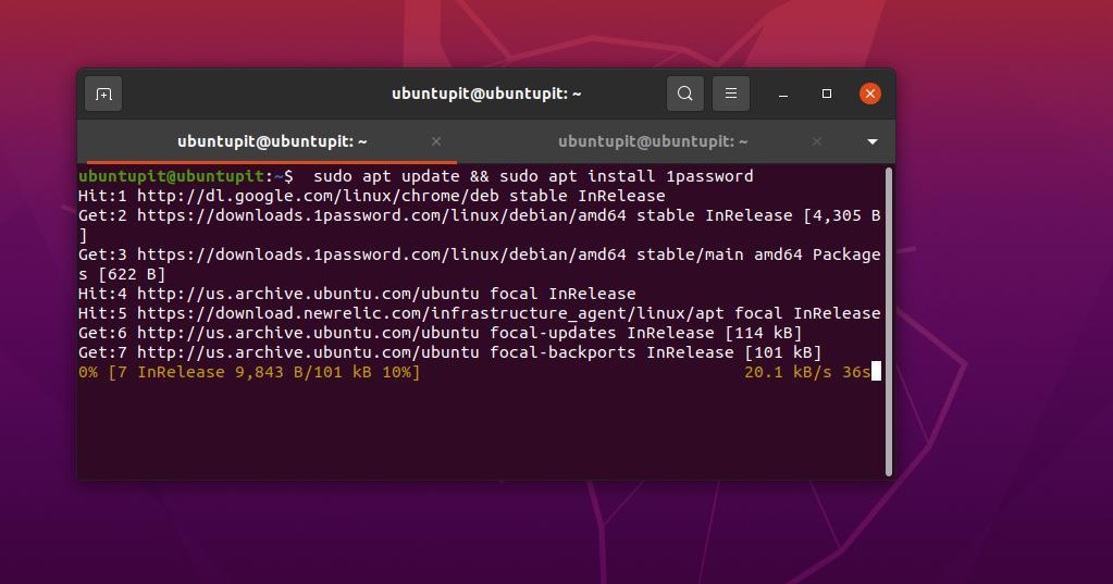 install 1password on Ubuntu linux