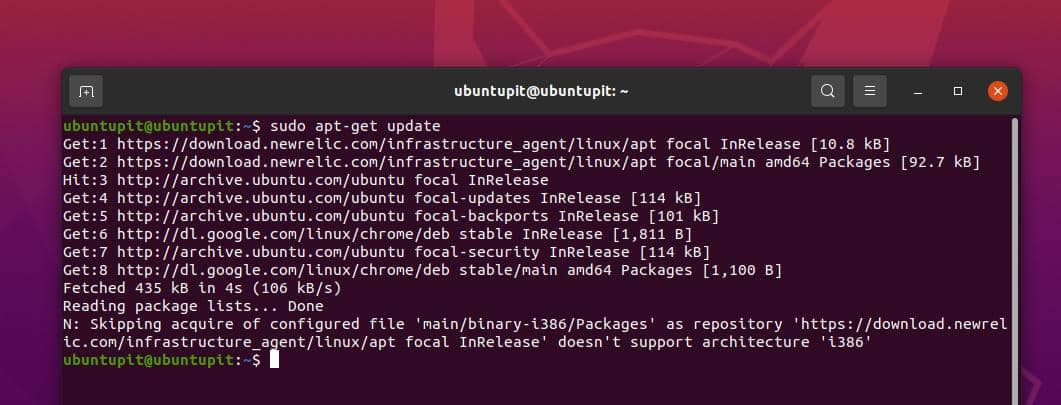 refresh repo for New Relic on Linux