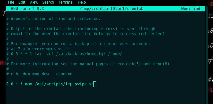 scheduling for crontab