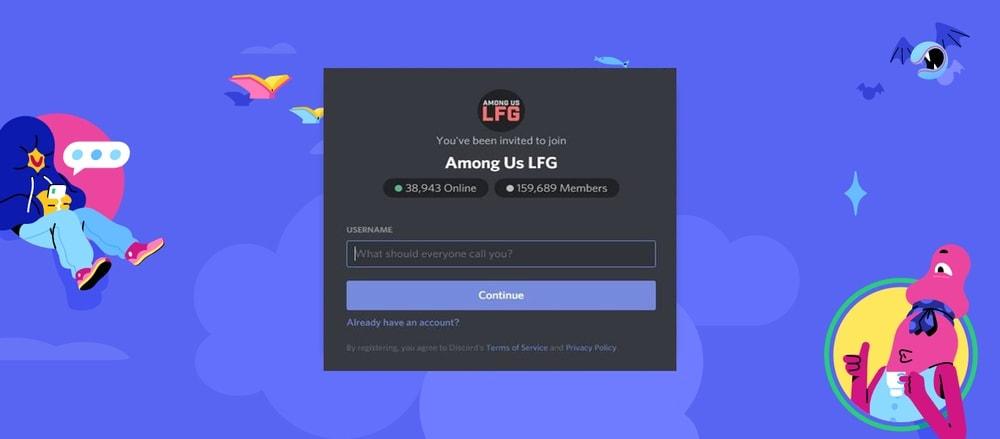 Among Us LFG Discord Server
