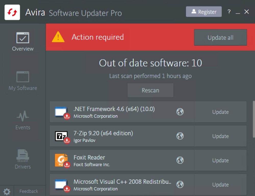 Avira Software Updater for Windows