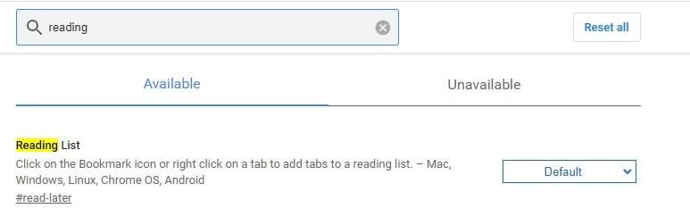 Create Reading List _ Chrome Flags