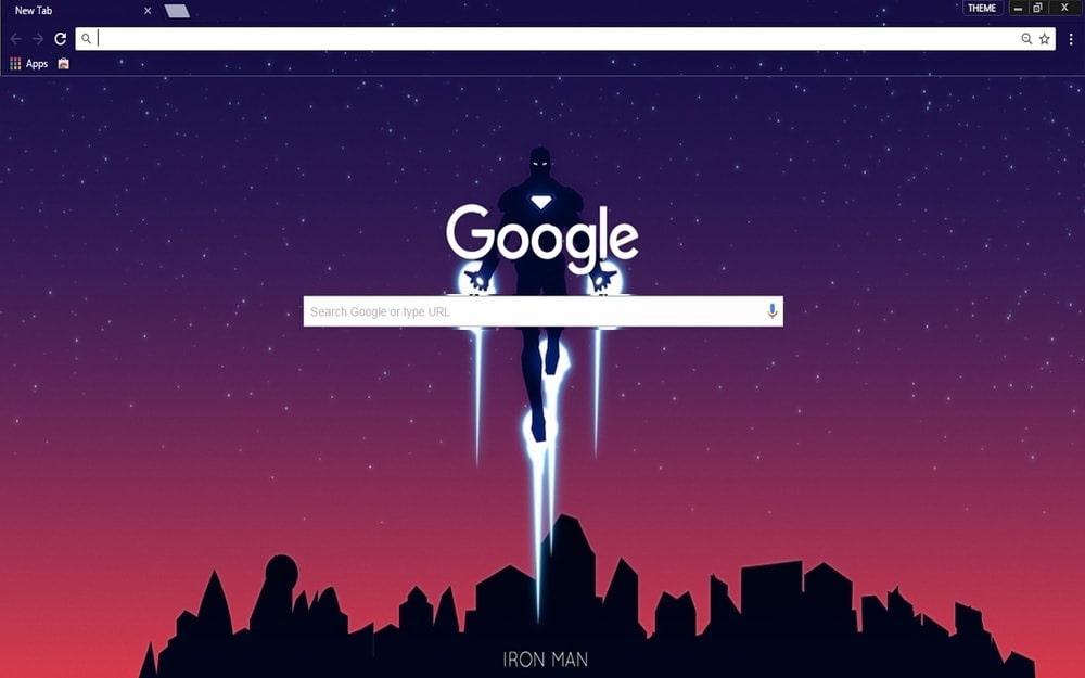 Iron Man Google Chrome Themes