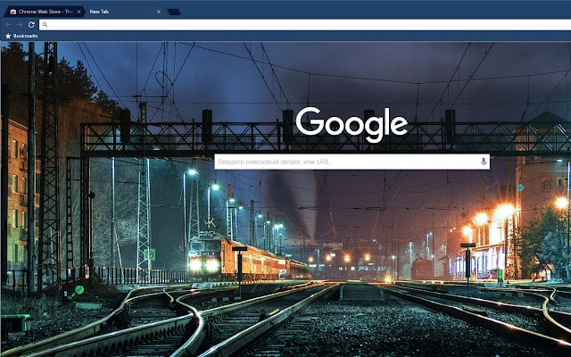 Midnight Train Dark Blue Google Chrome Theme
