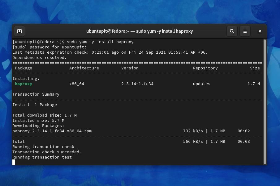 install HAproxy on Linux